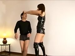 tall strong japanese goddess and weak slave