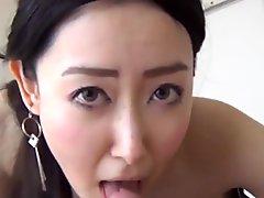 Japanese amateur sucking nipples before POV penetration