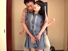 Japanese petite gets fucked by stepfather (Full video in comments)