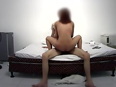 Asian white couple homemade fuck