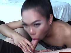Asian slut gets her puffy asshole creampied