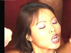Asian girl and cocks