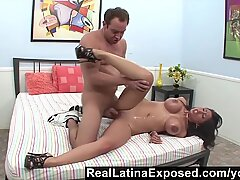 RealLatinaExposed - Alexis Breeze huge boobs sprayed with jizz