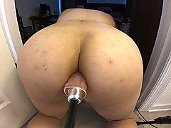 Big Dildo on Fuck Machine in Asian Ass
